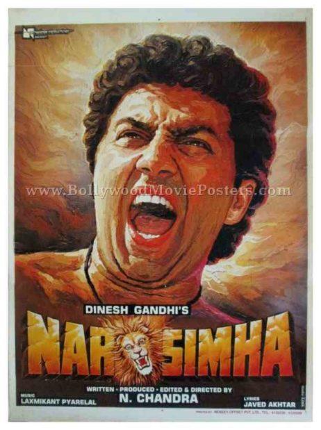 Narasimha 1991 Sunny Deol buy classic bollywood movie posters