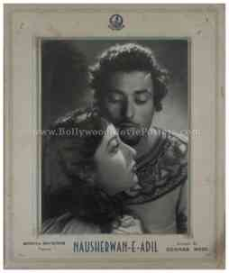 Nausherwan-E-Adil Sohrab Modi old bollywood black and white photos movie stills lobby cards