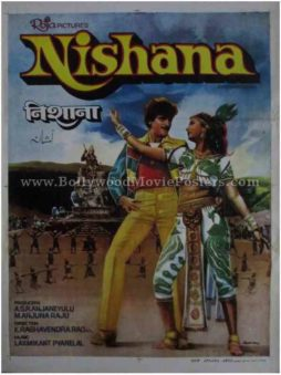 Nishana vintage indian hindi Bollywood film posters uk mumbai