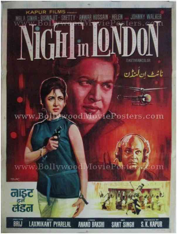 Old Vintage Bollywood Posters For Sale UK Night In London