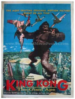 Original king kong 1976 movie film poster for sale