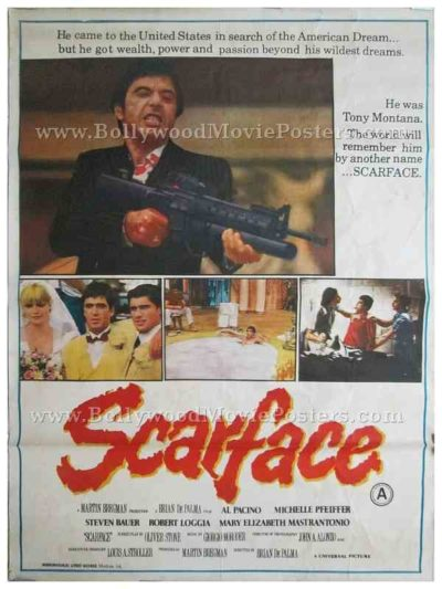 Original Scarface Tony Montana Al Pacino movie posters for sale