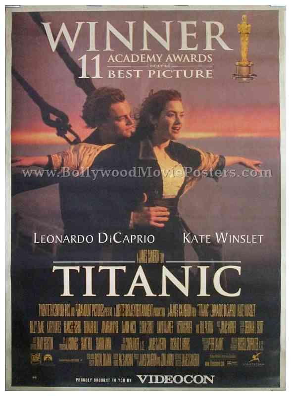 Original Titanic 1997 James Cameron Old Hollywood Movie Poster For Sale