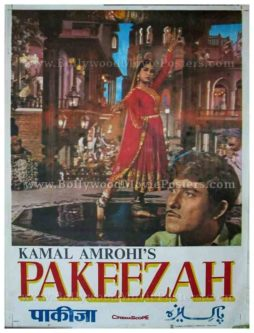 Pakeezah Meena Kumari original old vintage Bollywood movie posters for sale
