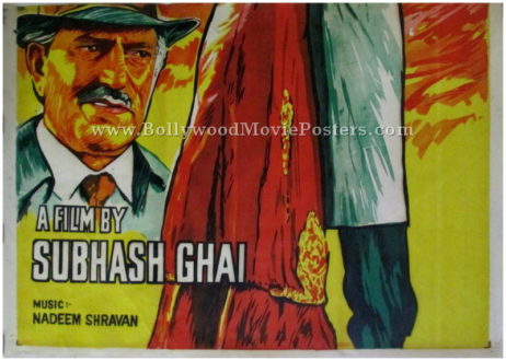 Pardes hand painted bollywood movie posters