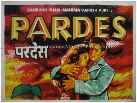 Pardes hand painted bollywood posters