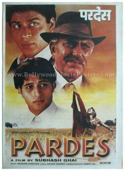 Pardes Subhash Ghai Shahrukh Khan old bollywood posters for sale