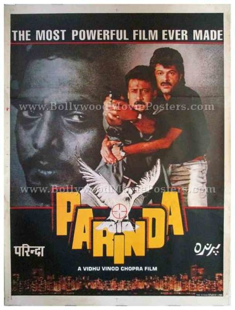 Parinda movie posters 1989 old Bollywood film for sale buy online in Mumbai, Delhi, UK, US