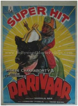 Parivaar 1987 Mithun Chakraborty old bollywood movie posters for sale