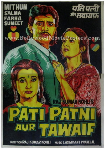Pati Patni Aur Tawaif hand painted bollywood posters