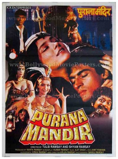 Purana Mandir Ramsay brothers old vintage Hindi horror movie poster for sale