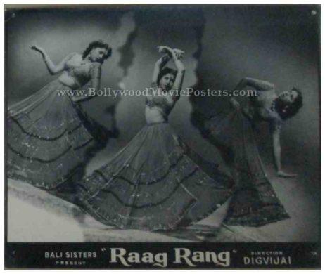 Raag Rang 1952 Ashok Kumar Geeta Bali old bollywood black and white photos movie stills lobby cards