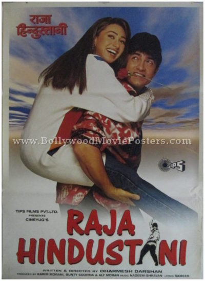Raja Hindustani Aamir Khan classic Bollywood posters