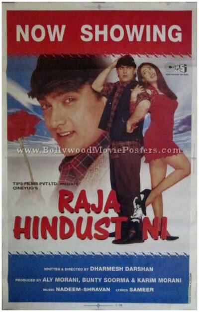 Raja Hindustani 1996 Aamir Khan movie poster