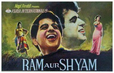Ram Aur Shyam 1967 Dilip Kumar old bollywood posters for sale