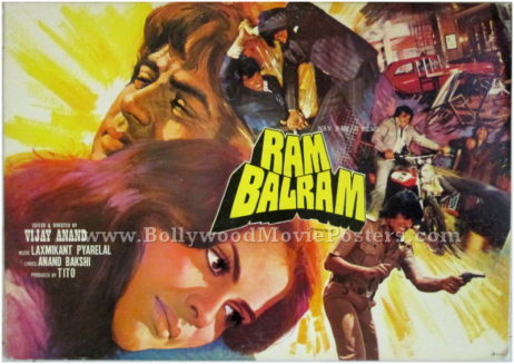 Ram Balram Bollywood cinema showcards
