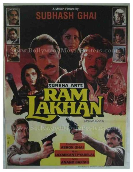 Ram Lakhan 1989 classic bollywood movie posters