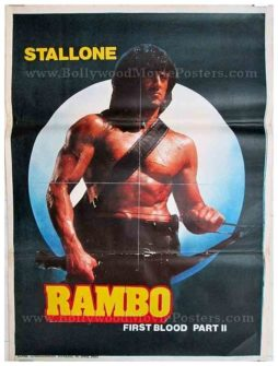 rambo first blood part 2 original vintage movie poster for sale