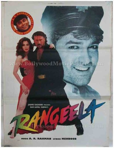 Rangeela Aamir Khan Urmila Matondkar classic bollywood movie posters for sale