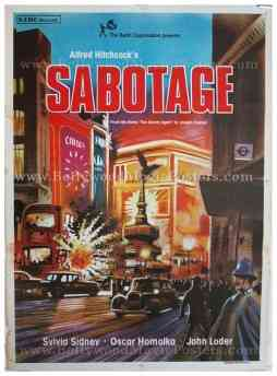 Sabotage original Alfred Hitchcock movie posters for sale