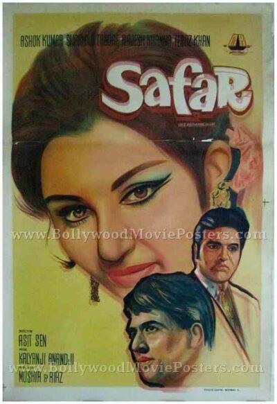 Safar 1970 buy old rajesh khanna bollywood posters for sale online