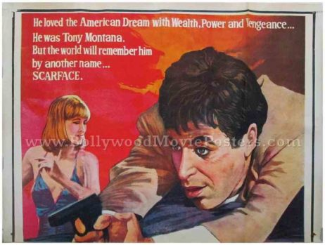 Original Scarface Tony Montana Al Pacino hand painted movie canvas wall sized posters for sale