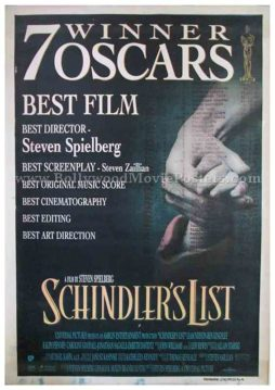 schindler's list 1993 Steven Spielberg movie poster