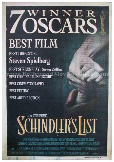 schindler's list 1993 Steven Spielberg movie poster