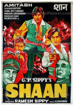 Shaan Amitabh old vintage hand painted Bollywood movie posters for sale in india