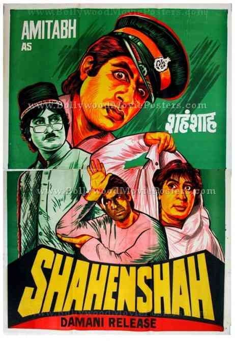 Shahenshah 1988 Amitabh Bachchan old hand painted Bollywood posters for sale