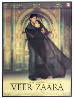 Shahrukh Khan poster Veer Zaara Bollywood movie