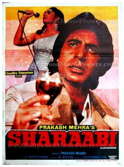 Sharaabi Amitabh Bachchan old vintage Hindi film Indian cinema posters for sale