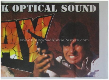 Buy Sholay original movie poster for sale online Gabbar Singh 1975 film