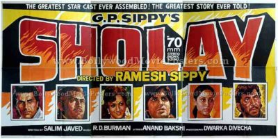 Sholay 1975 original old vintage Hindi Bollywood movie posters for sale online auction