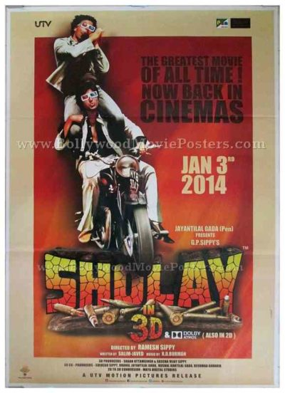 Sholay original old movie posters for sale online download