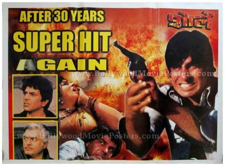 Sholay original old vintage Hindi film posters for sale online