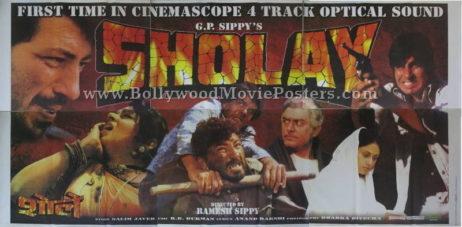 Buy Sholay original movie poster for sale online Gabbar Singh 1975 film
