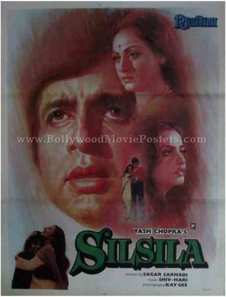 Silsila Amitabh Bachchan old movies posters