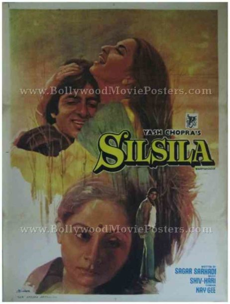 Silsila old Amitabh Bachchan movies posters Bollywood