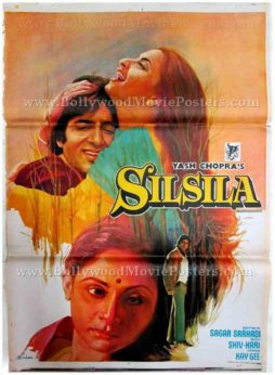 Silsila 1981 Amitabh Rekha Yash Chopra old movie posters for sale in mumbai