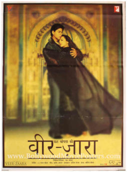 SRK poster Veer Zaara Bollywood movie Preity Zinta
