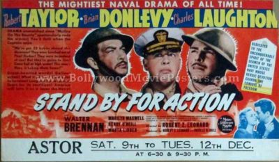 Stand By for Action 1942 old vintage movie handbills for sale online in US, UK, Mumbai, India