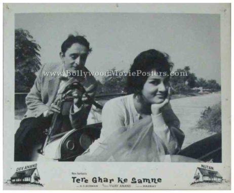 Tere Ghar Ke Samne 1963 dev anand old photos stills black and white pictures lobby cards