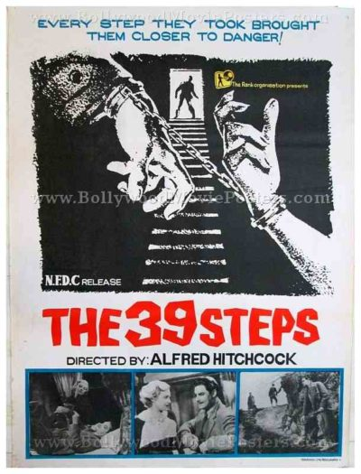 The 39 Steps original Alfred Hitchcock movie posters for sale