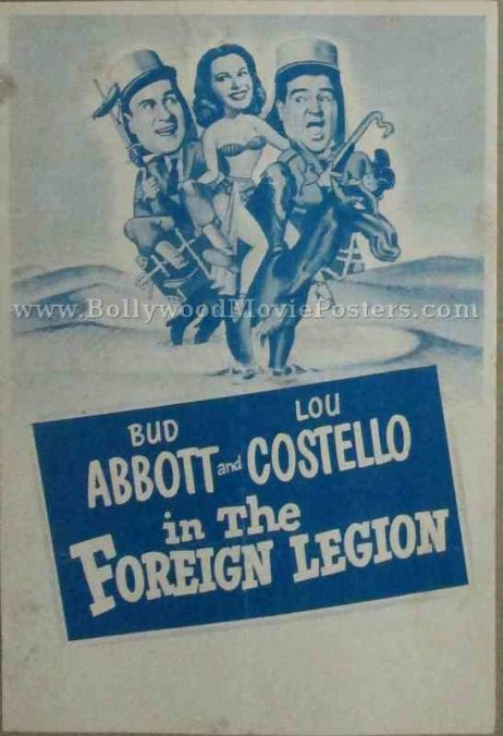 Abbott and Costello in the Foreign Legion old vintage movie handbills for sale online in US, UK, Mumbai, India