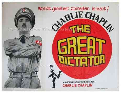 Charlie Chaplin The Great Dictator original old vintage Hollywood movie posters for sale