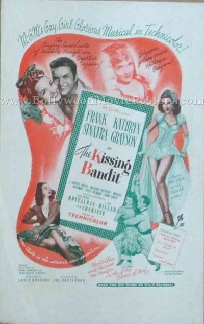 The Kissing Bandit 1948 old vintage movie handbills for sale online in US, UK, Mumbai, India