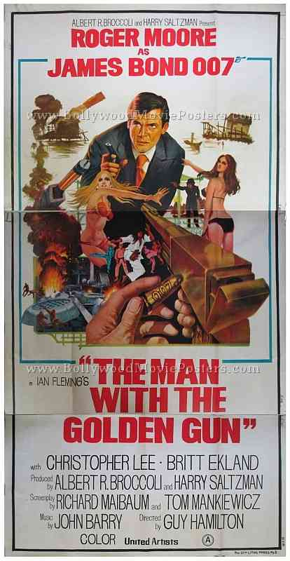 roger moore bond posters