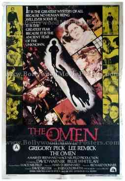 The Omen 1976 old vintage horror movie posters for sale