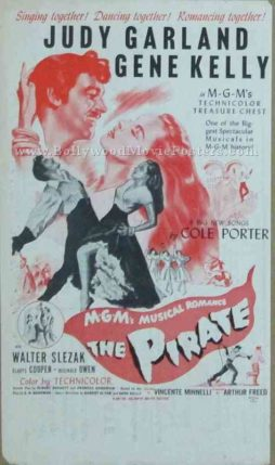 The Pirate 1948 old vintage movie handbills for sale online in US, UK, Mumbai, India